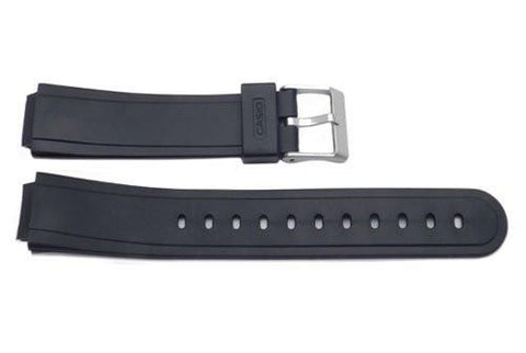 Casio Style Replacement 15mm Black Watch Band - P3038