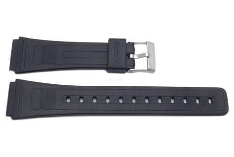 Casio Style Replacement 19mm Black Watch Strap P3027