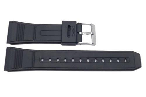 Casio Style Replacement 22mm Black Watch Strap P3025