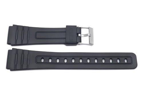 Casio Style Replacement 18mm Black Watch Band P3019