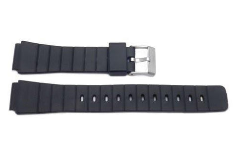 Casio Style Replacement 16mm Black Watch Strap P3012