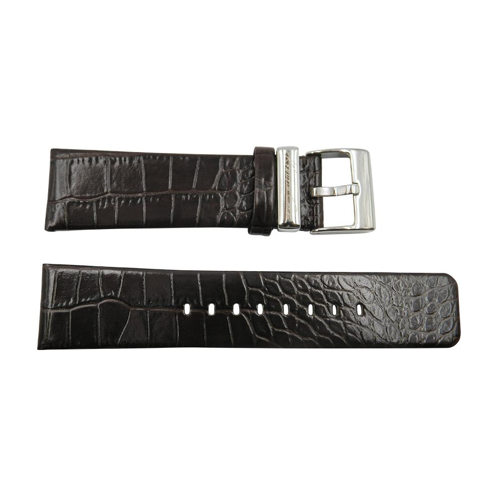Kenneth Cole 24mm Brown Crocodile Grain Leather Strap