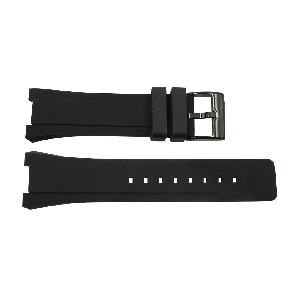 Kenneth Cole 26mm Integrated Black Rubber Watch Strap