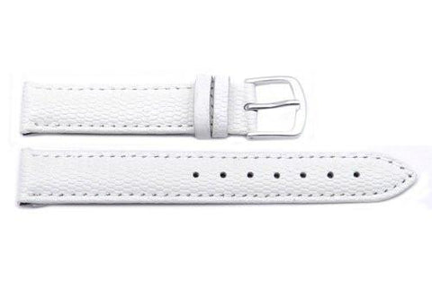 Hadley Roma Java Lizard Grain White Textured Leather Watch Strap