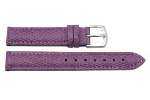 Hadley Roma Java Lizard Grain Purple Textured Padded Watch Strap