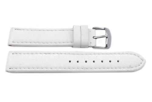 Hadley Roma Lorica Material White Self-Lined Heavy Padded Watch Band