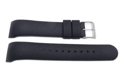 Genuine Swiss Army Black Rubber Alliance 21mm Watch Band