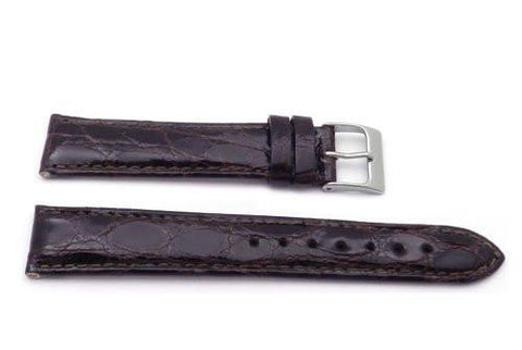 Genuine Crocodile Gloss Finish Watch Band