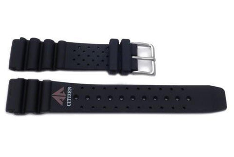 Genuine Rubber Black 20mm Aqualand Promaster Watch Strap by Citizen