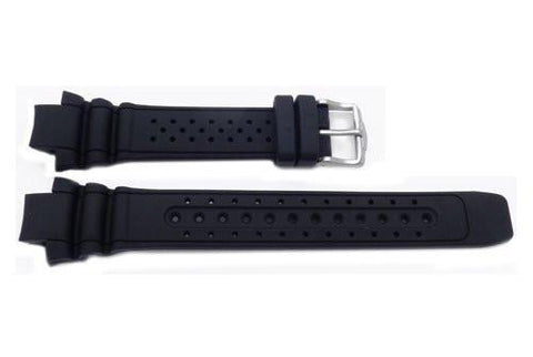 Genuine Rubber Black 26mm Cyber Aqualand Watch Band by Citizen