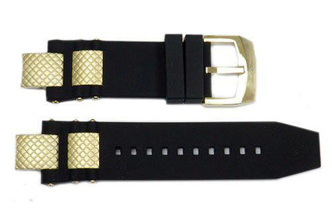 Genuine Invicta Subaqua Mens Polyurethane Black 28mm Watch Band