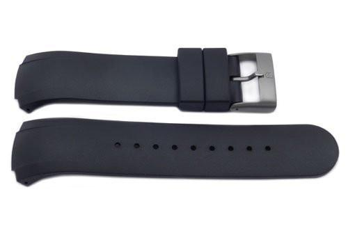 Swiss Army Genuine Rubber Black Regular 14mm Watch Strap