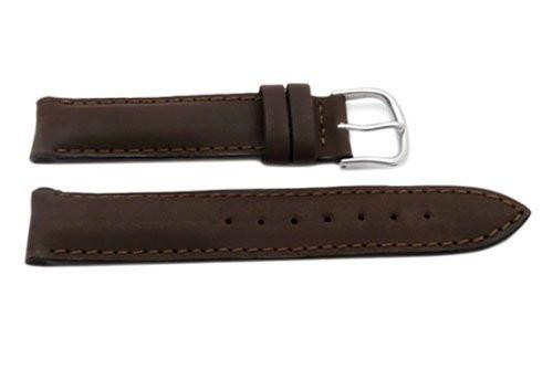 Swiss Army Genuine Brown Smooth Leather Cavalry Series 16mm Watch Band