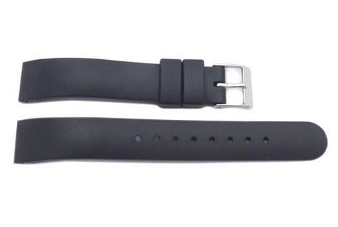 Swiss Army Genuine Rubber Black Alliance 15mm Watch Strap