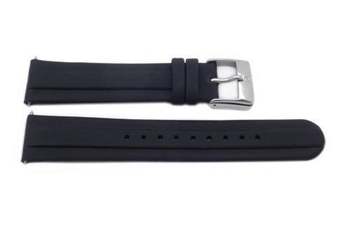 Swiss Army Genuine Rubber Black Officer's 1884 20mm Watch Strap
