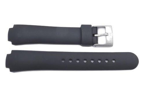 Swiss Army Genuine Rubber Black Excursion 12mm Watch Strap