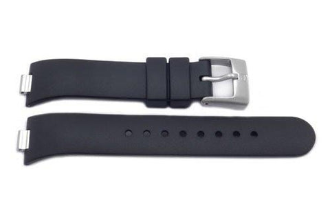 Swiss Army Genuine Rubber Black Summit XLT 7.5mm Watch Strap