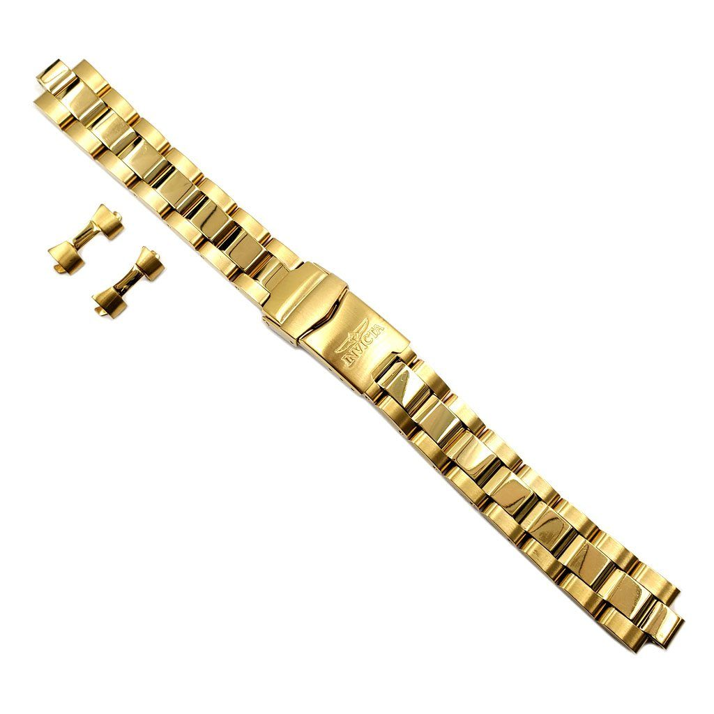 Genuine Invicta 16mm Gold Tone Womens Watch Strap