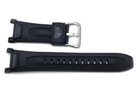 Genuine Casio Black Resin Protrek 18mm Watch Band- 10036568