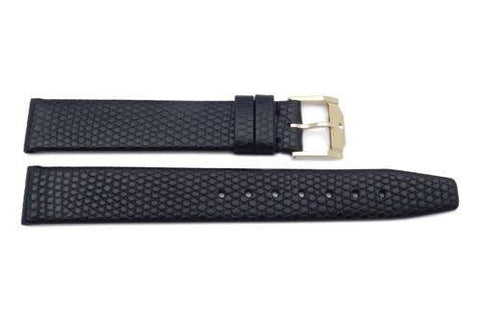 Genuine Movado 16mm Genuine Black Lizard Grain Leather Watch Strap