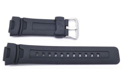 Genuine Casio Black Resin 16mm Watch Band- 10188485