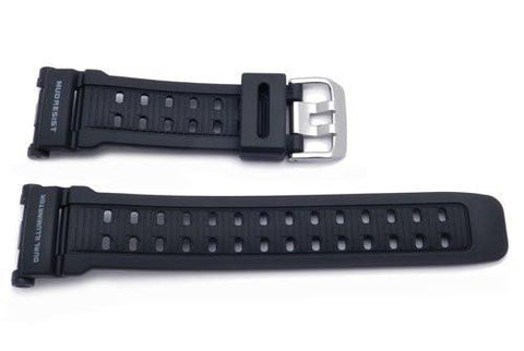 Genuine Casio Black Resin Dual Illuminator 20mm Watch Band