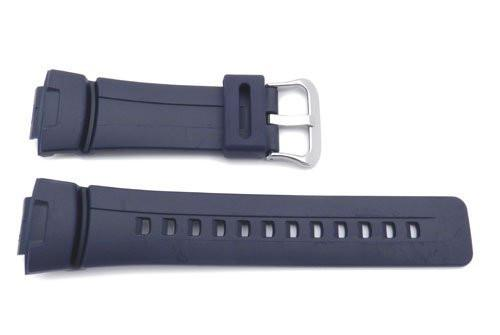 Genuine Casio Blue Resin 16mm Watch Band- 10001491