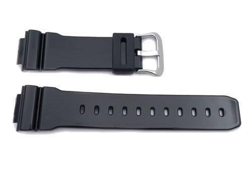 Genuine Casio Black Resin 16mm Watch Band- 10303976