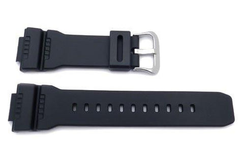 Genuine Casio Black Resin 16mm Watch Band- 10330771