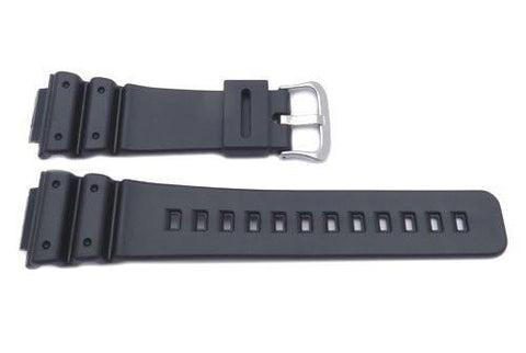 Genuine Casio Black Resin 16mm Watch Band- 71604348