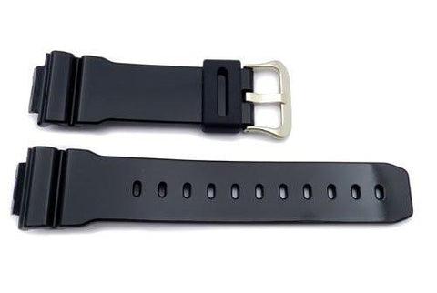 Genuine Casio Black Resin 16mm Watch Band 10349894
