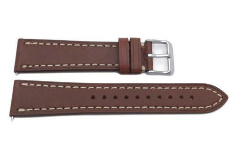 Swiss Army Genuine Leather Smooth Brown 20mm Infantry Vintage Watch Band