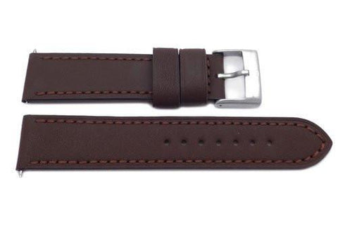 Swiss Army Genuine Leather Smooth Brown 21mm Chrono Classic Watch Strap