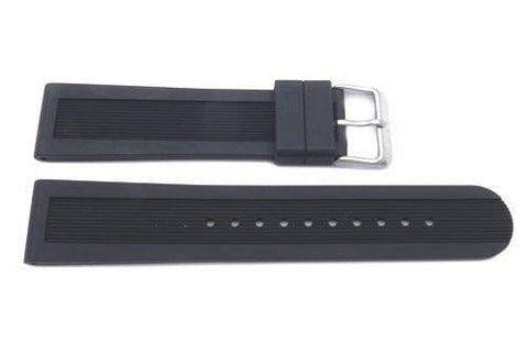 Swiss Army Genuine Rubber Black 22mm Dive Master 500 Watch Strap