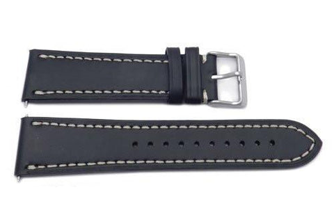Swiss Army Genuine Leather Black 23mm Infantry Vintage Mechanical Watch Band