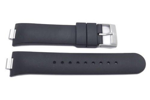Genuine Swiss Army Black Rubber Summit XLT Watch Strap