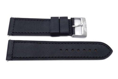Swiss Army Genuine Leather Black 23mm Infantry Chrono Watch Band