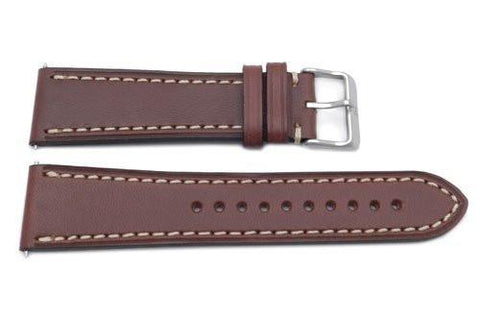 Swiss Army Genuine Leather Brown 23mm Infantry Chrono Watch Strap