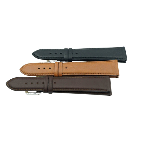 Genuine Smooth Soft Leather Handmade in France Long Watch Strap