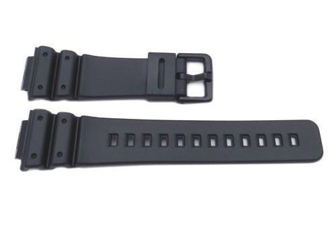 Genuine Casio Black Resin DW Series 16mm Watch Strap- 70642266