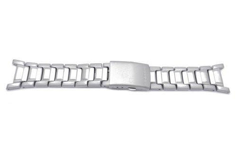 Genuine Casio Silver Tone Stainless Steel G-Shock Series 24mm Watch Band- 10109619