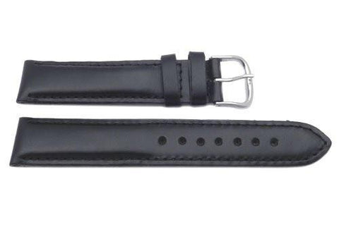 Genuine Swiss Army Black Smooth Leather 19mm Cavalry II Chrono Watch Strap