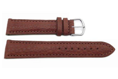 Genuine Swiss Army Brown Textured Leather 20mm Cavalry Chrono Watch Band