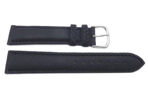 Genuine Swiss Army Black Textured Leather 20mm Cavalry Chrono Watch Strap