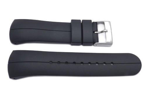 Genuine Swiss Army Black Smooth Rubber 14mm Startech 3000 Watch Band