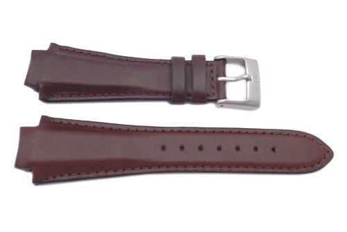 Genuine Swiss Army Brown Smooth Leather 16mm Peak Watch Strap