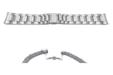 Swiss Army Stainless Steel Silver Tone Chrono Class 23mm Bracelet Watch Strap