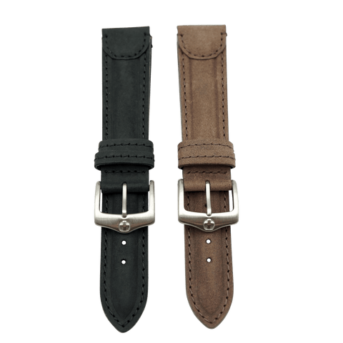 Genuine Leather Sport Tab End Long Leather Watch Strap