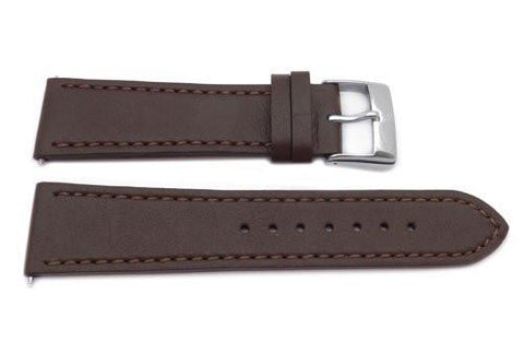 Genuine Swiss Army Brown Smooth Leather 23mm Infantry Chrono Watch Strap