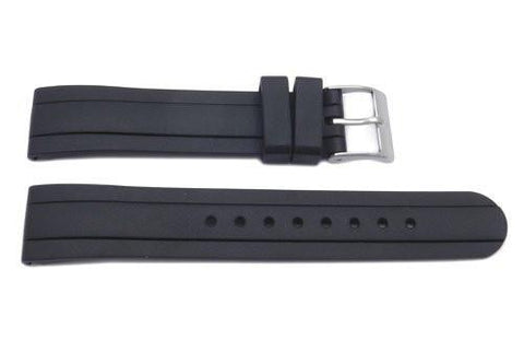 Genuine Swiss Army Black Rubber 16mm Garrison Watch Band